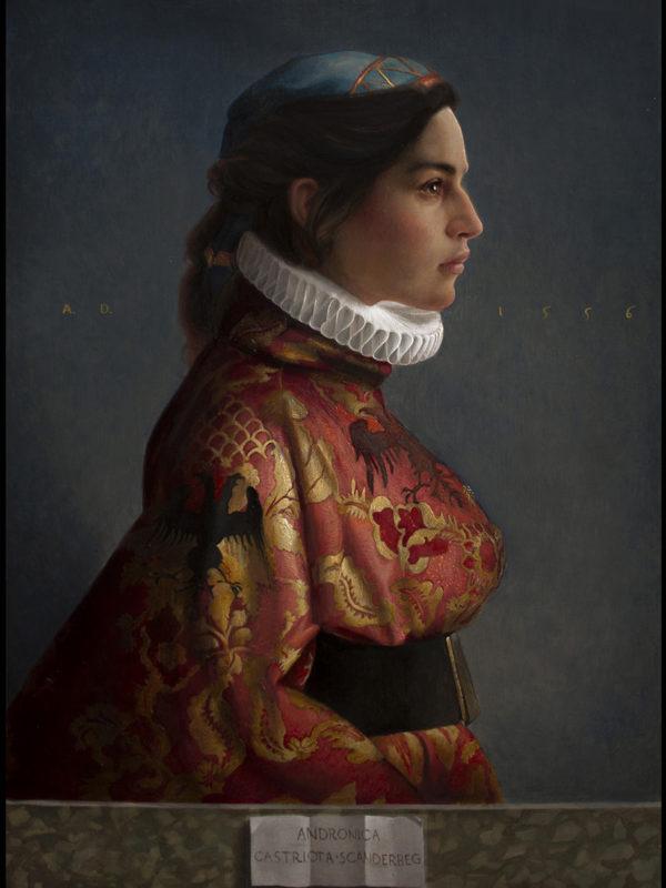Andronica Castriota Scanderbeg, oil on linen, 40 x 55 cm