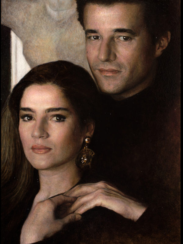 Christian e Silvia, oil on board, 20x31 cm.
