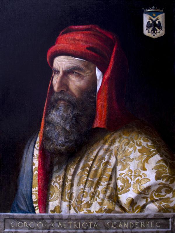 Giorgio Castriota Scanderbeg, oil on linen, 55 x 40cm